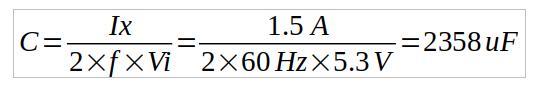 capacitance calculation