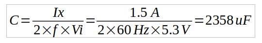 capacitance calculation